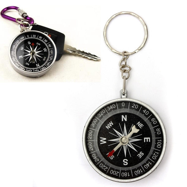 Portable Survival Compass Camping Hiking Hunting Pendant Key Chain Ring - GhillieSuitShop