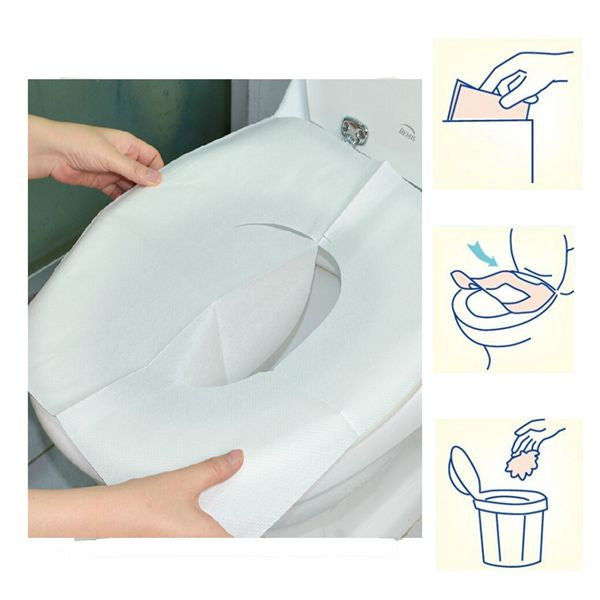1 Pack 10Pcs Clean Disposable Paper Sanitary Toilet Seat Covers Camping Travel - GhillieSuitShop
