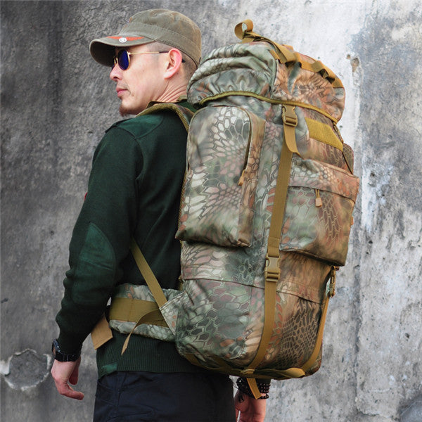 Tactical  Military Trekking Camping Hiking Rucksack Camouflage Backpack - GhillieSuitShop