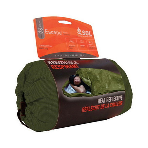 SOL Escape Bivy OD Green - Hiking, Camping Tent - GhillieSuitShop