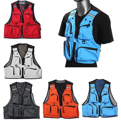 Multi Pockets Fishing Hunting Mesh Vest Mens Outdoor Leisure Jacket - GhillieSuitShop