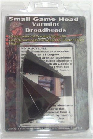 Small Game Broadheads 3-pk Varmint Broadhead - GhillieSuitShop