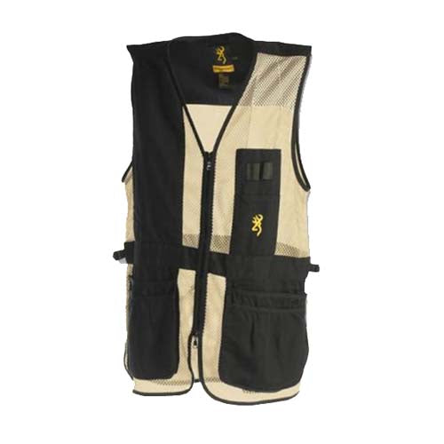 Browning Trapper Creek Vest XX-Large, Black/Tan - GhillieSuitShop