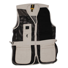 Browning Trapper Creek Left Hand Vest XX-Large, Sand/Black - GhillieSuitShop