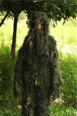 Woodland Camo Camouflage clothing 3D Tree Hunting Adults Ghillie Suit - GhillieSuitShop