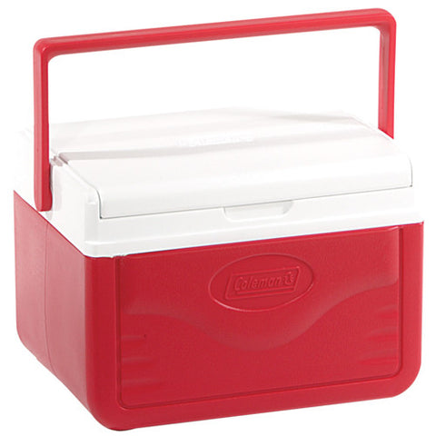 Cooler 5qt Red W Shield Glbl - GhillieSuitShop