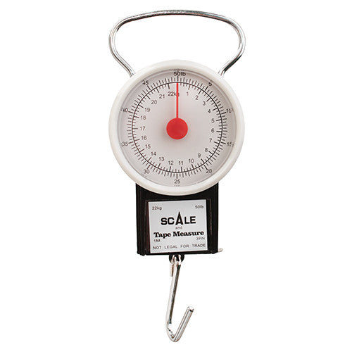 50 Lb Dial Scale W Tape Measure 1pc - GhillieSuitShop