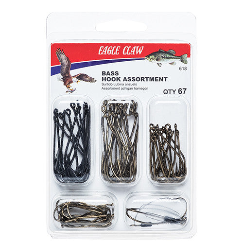 Bass Hook Assortment Clam 67pcs - GhillieSuitShop