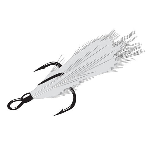 Feathered Treble Wxr 4, 2 Hooks P/P - GhillieSuitShop