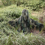 Complete Woodland Ghillie Suit 5 Piece Camo with Bag
