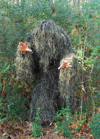 Kids 4 Piece Synthetic Ghillie Suit Woodland color - GhillieSuitShop