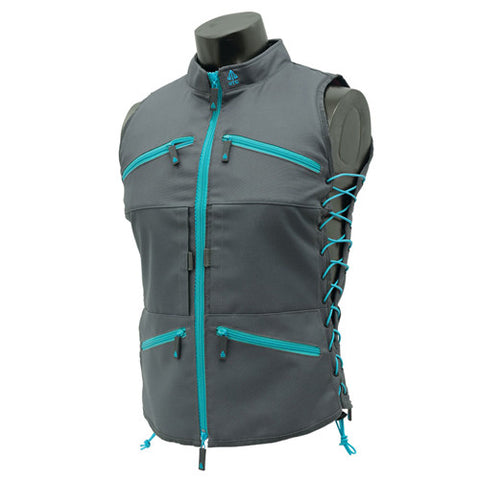 True Huntress Female Vest, Gray/Blue - GhillieSuitShop
