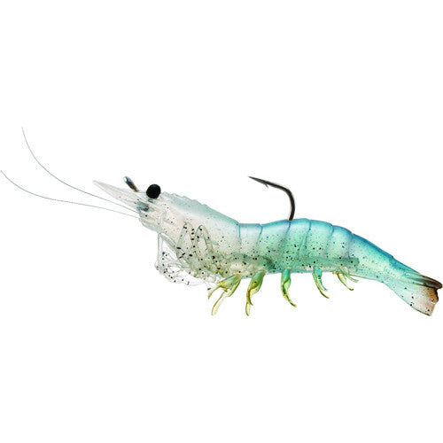 Rigged Shrimp Soft Plstc,white shrimp,2/0 - GhillieSuitShop