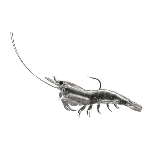Rigged Shrimp Soft Plstc,clear shrimp,2/0 - GhillieSuitShop