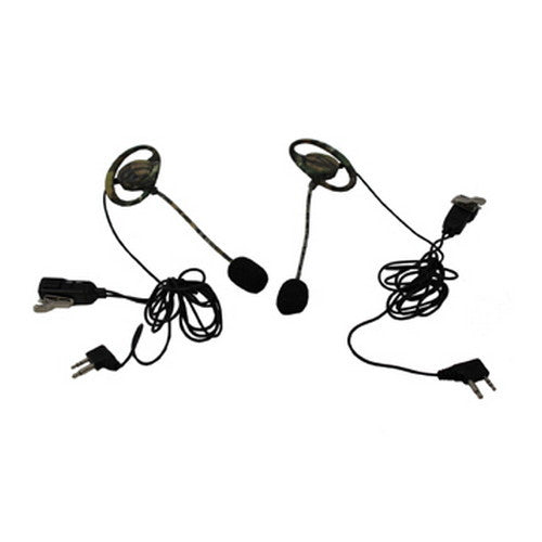Camo Headsets w/Wind Resistant Boom Mic - GhillieSuitShop