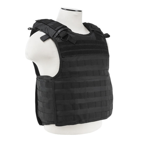 Quick Release Plate Carrier Vest - Black - GhillieSuitShop