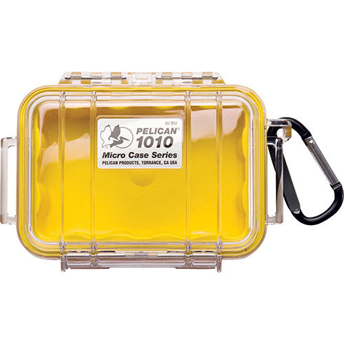 1010 Micro Case, Clear Top Yellow - GhillieSuitShop