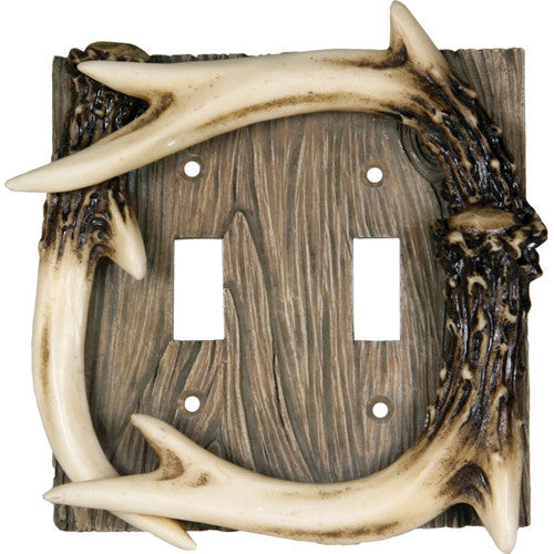 Deer Antler Double Switch Cover - GhillieSuitShop