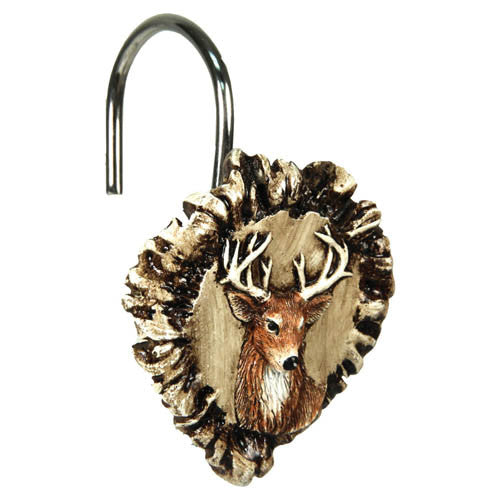 Antler & Deer Shower Curtain Hook Set - GhillieSuitShop