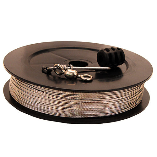 Prem SS Downrigger Cable,400 ft spool,kit - GhillieSuitShop
