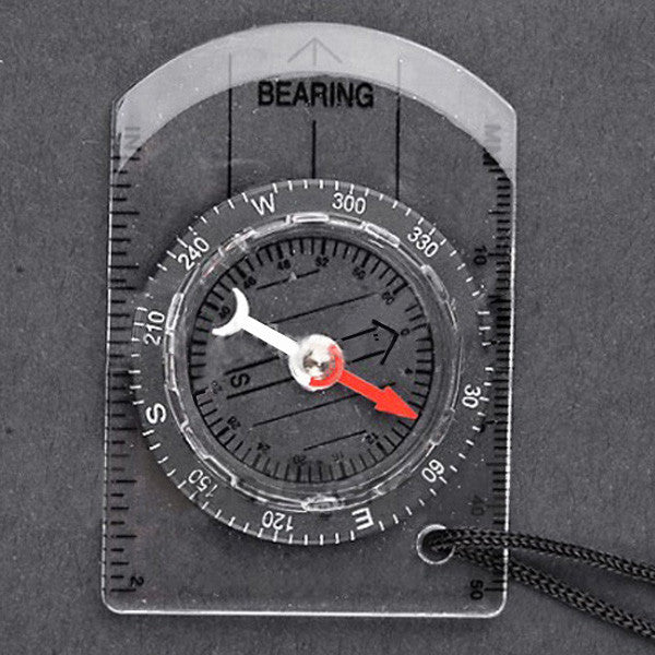 Mini All in 1 Outdoor Baseplate Compass Map MM INCH Measure Ruler - GhillieSuitShop