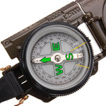 3 In 1 LED Military Marching Outdoor Camping 360 Lensatic Compass - GhillieSuitShop