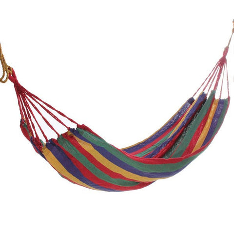 Portable Cotton Rope Hammock Swing Fabric Camping Hammock Canvas Bed - GhillieSuitShop