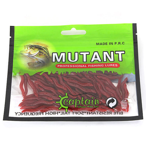 80x 4cm EarthWorm Fish Lure Red Worms Plastic Fishing Lures Soft Baits - GhillieSuitShop