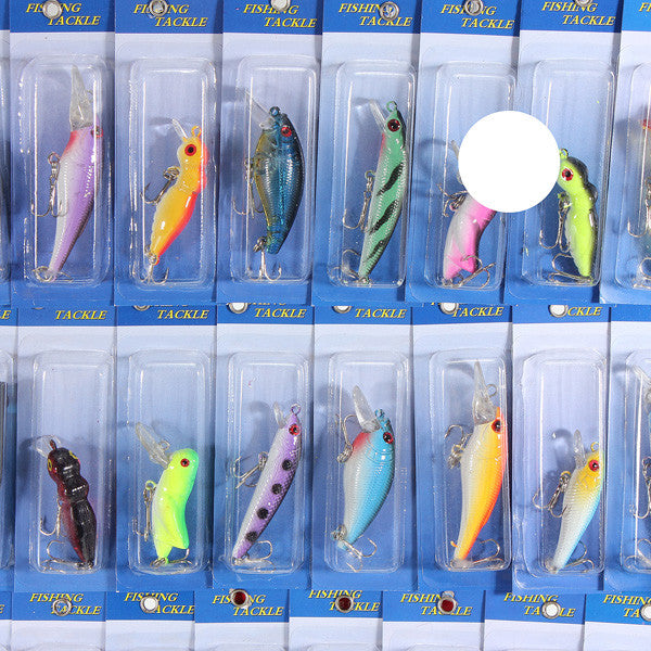 30pcs Kind of Fishing Lures Crank bait Baits Hooks Tackle EP9 - GhillieSuitShop