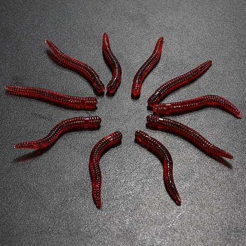 10pcs/pack Worm Shape Earthworm Soft Plastic fishing Lure Bait - GhillieSuitShop