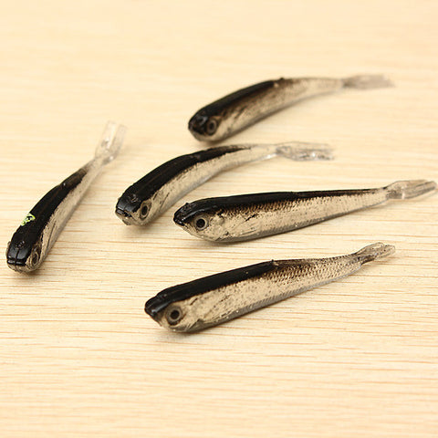 1Set 10PCS Soft Silicone Fishing Lure Bait Freshwater Saltwater - GhillieSuitShop