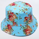 Women Cotton Floral Fishing Hat Boonie Bucket Summer Sun Cap Outdoor - GhillieSuitShop