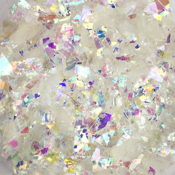 Unicorn Flakes - Mylar Flakes - White 10g, Mylar flakes- Lumin's Workshop