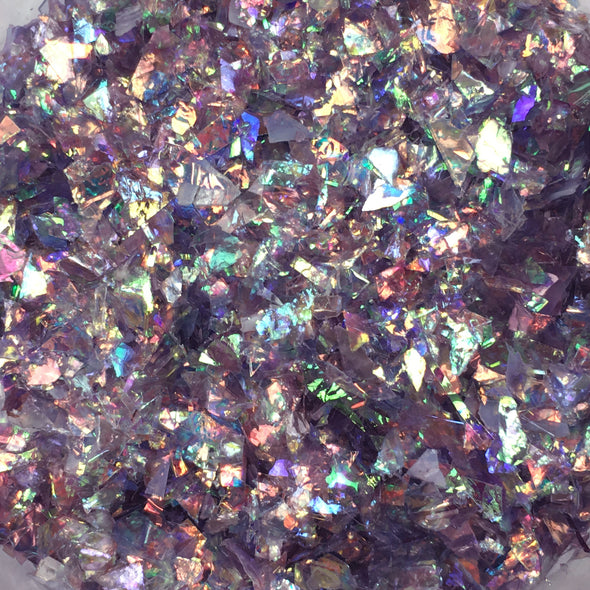 Amethyst - Mylar Flakes - Purple 10g, Mylar flakes- Lumin's Workshop