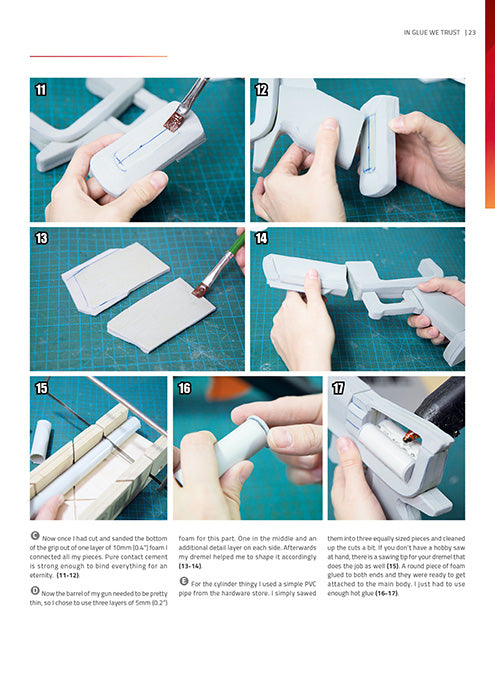 Advanced Prop Making – Creating Guns & Rifles - Print Version - By Kamui Cosplay, books- Lumin's Workshop