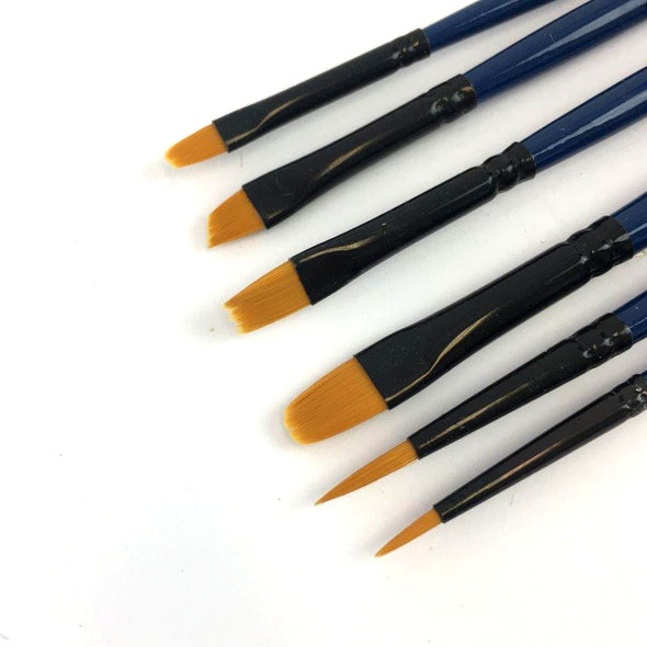 Detail Brush Set - 6 Pack, Paint Brushes- Lumin's Workshop