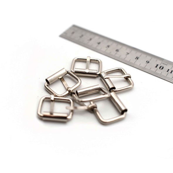 Metal Buckles - 24mm x 26mm - Silver - Pack of 8