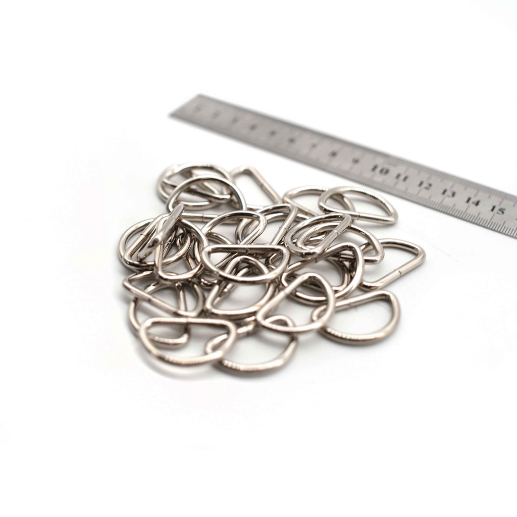 D Rings - 31mm - Silver - Pack of 12