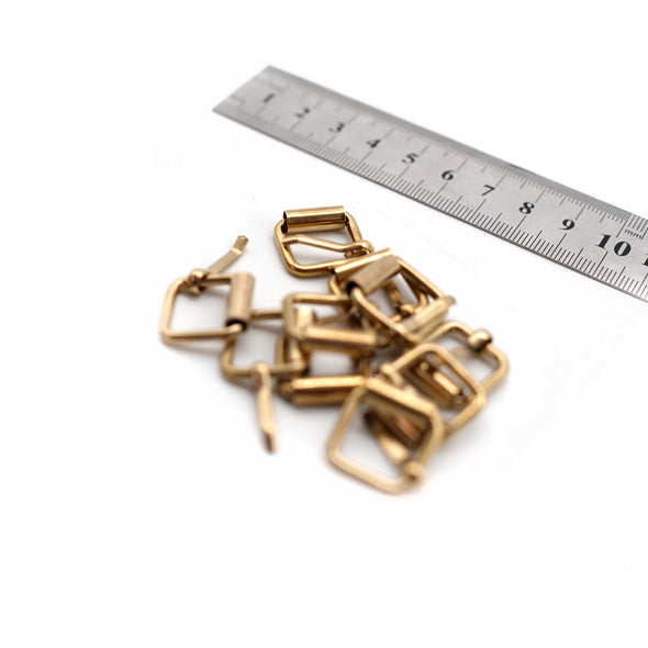 Metal Buckles - 16mm x 20mm - Brass - Pack of 10