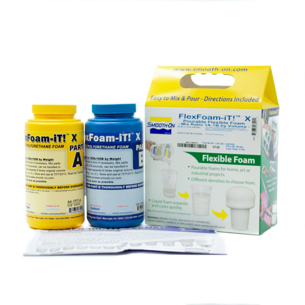 Flex Foam-It X - Trial Kit (0.88kg), resin- Lumin's Workshop