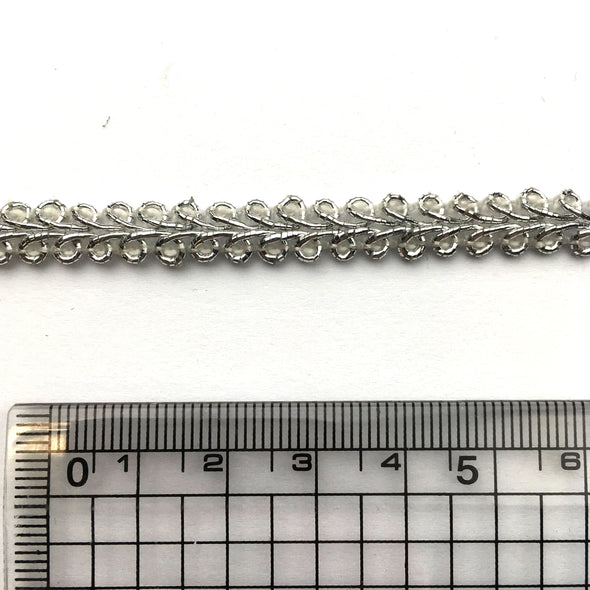 Gimp braid trim 7mm - Metallic Silver, Trims- Lumin's Workshop