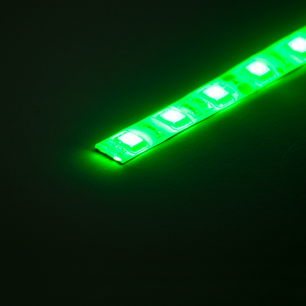 12V LED Strip - Green (1m), LEDS- Lumin's Workshop