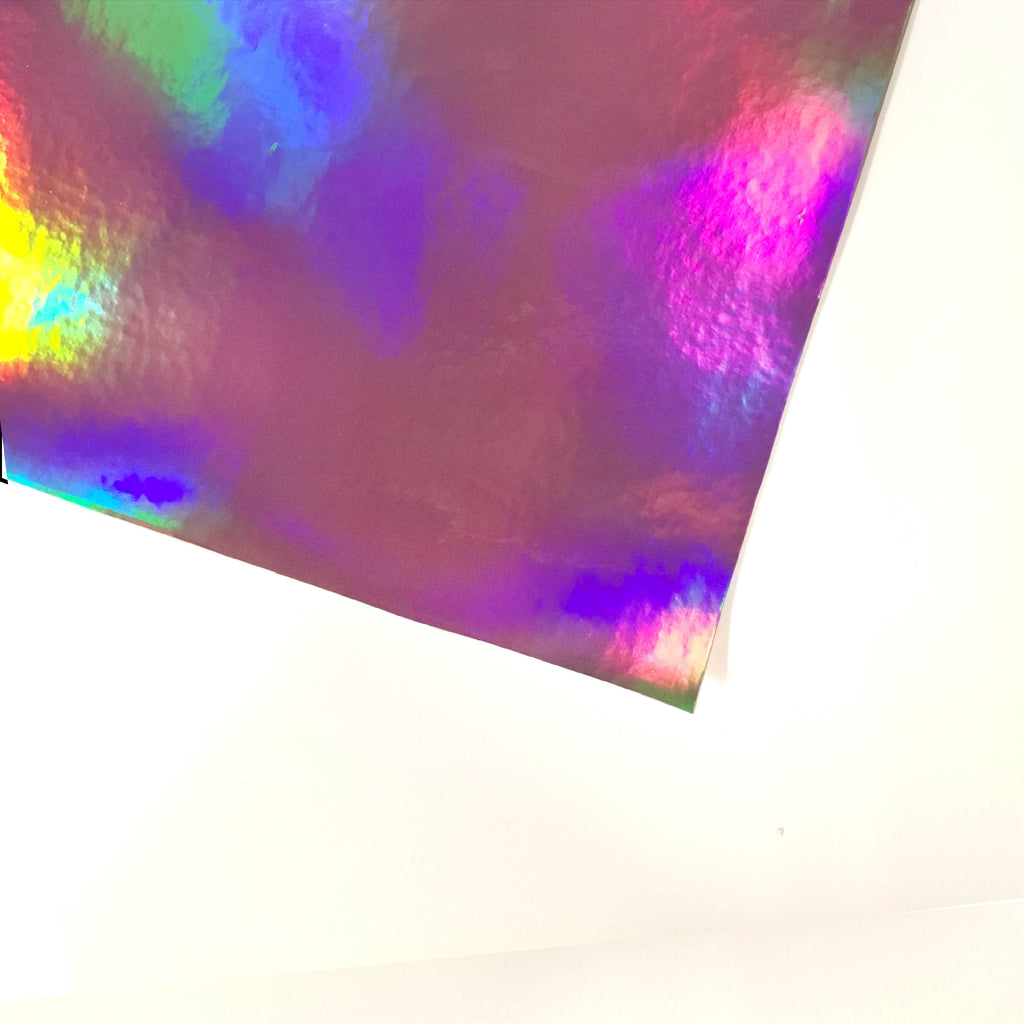 Holographic Vinyl fabric - Pink, holographic vinyl- Lumin's Workshop