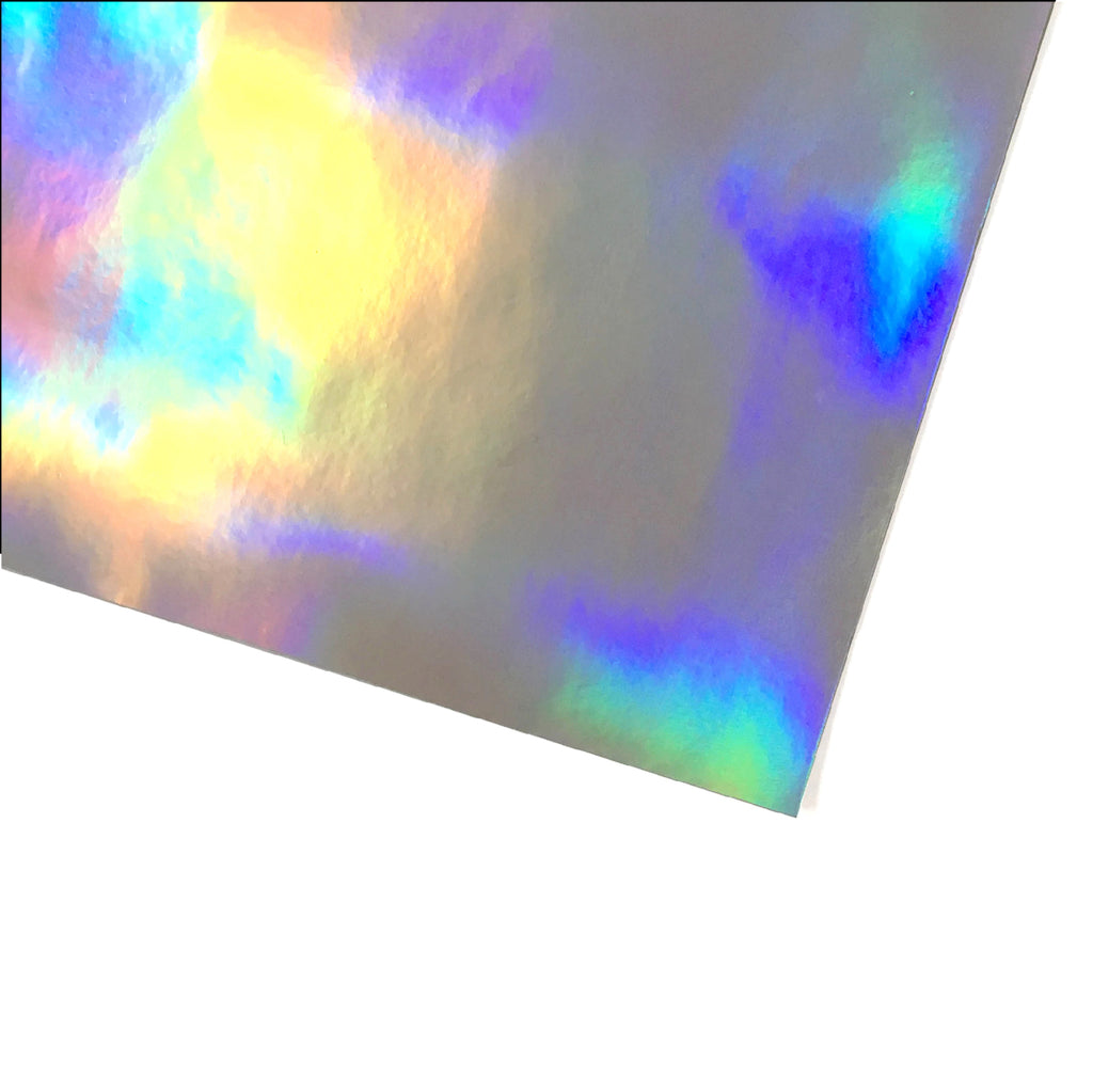 Holographic Vinyl fabric - Silver, holographic vinyl- Lumin's Workshop