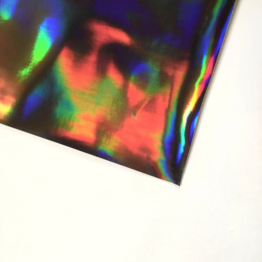 Holographic Vinyl Fabric - Gun Metal, holographic vinyl- Lumin's Workshop