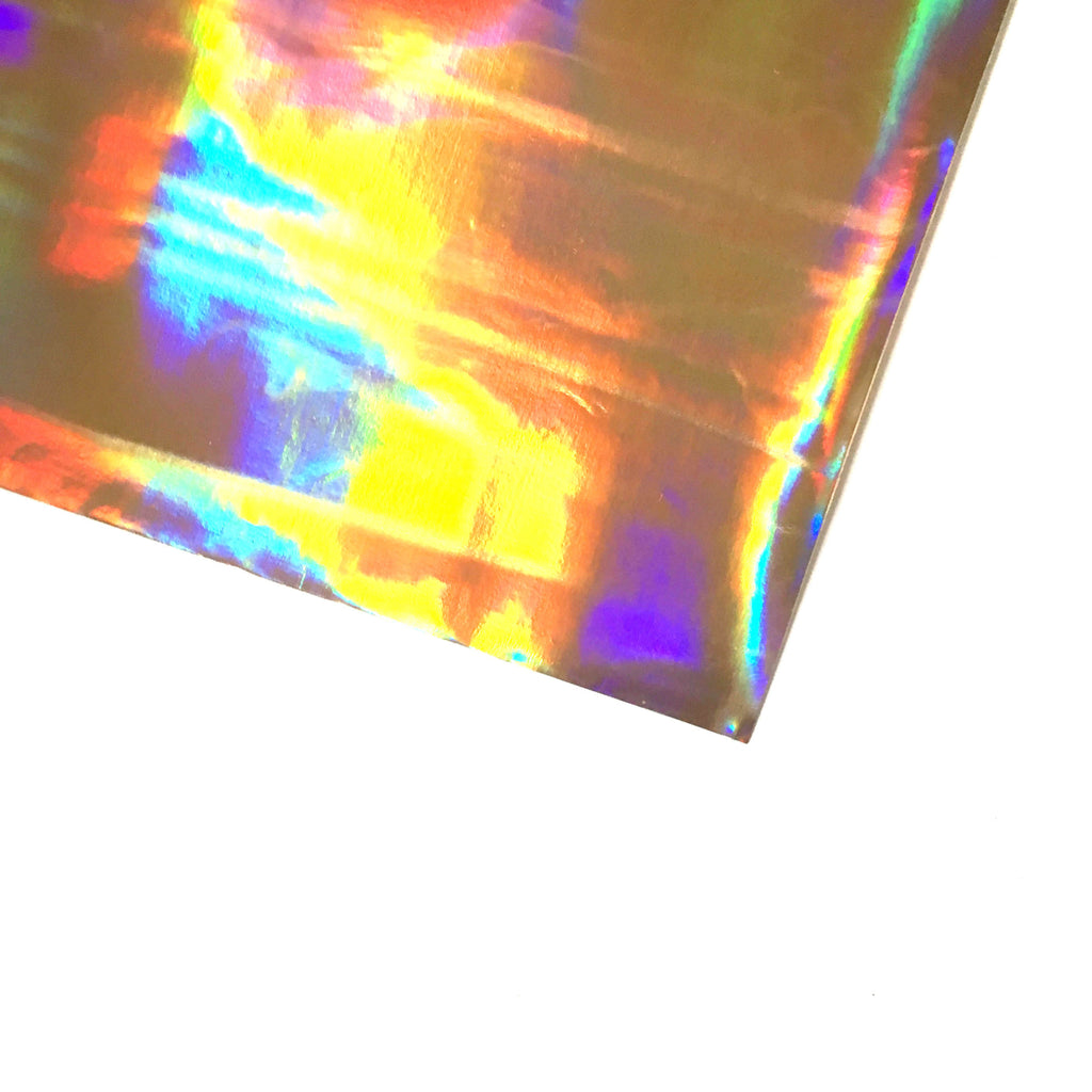 Holographic Vinyl Fabric - Gold, holographic vinyl- Lumin's Workshop