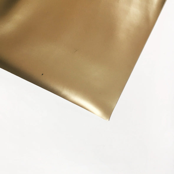 Matte Metallic Vinyl Fabric - Champagne Gold, metallic vinyl- Lumin's Workshop