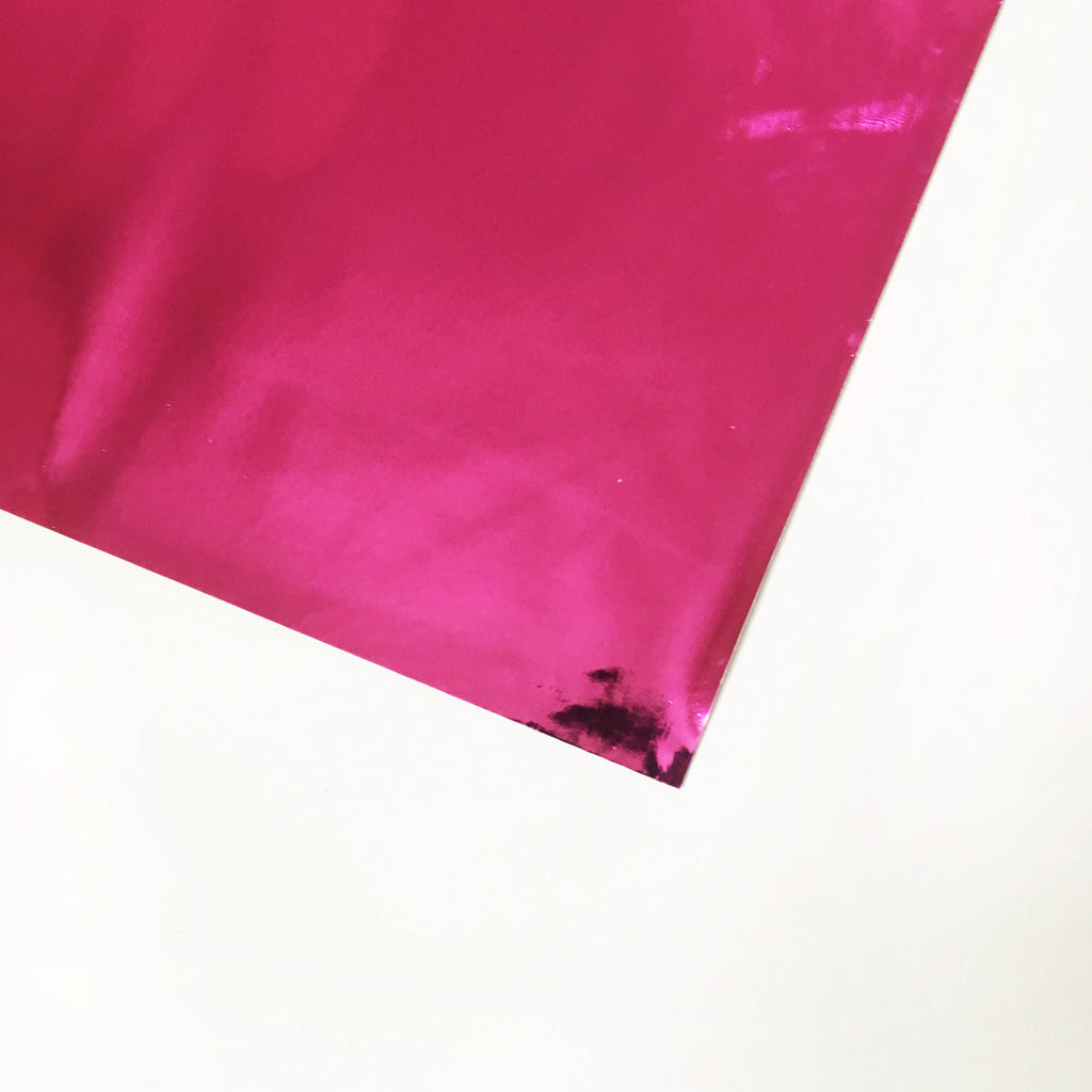 Super Chrome Metallic Vinyl Fabric - Hot Pink, metallic vinyl- Lumin's Workshop
