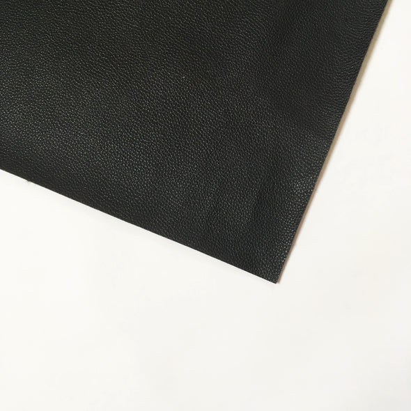 Pebble Faux Leather Pleather Fabric - Black, pleather- Lumin's Workshop