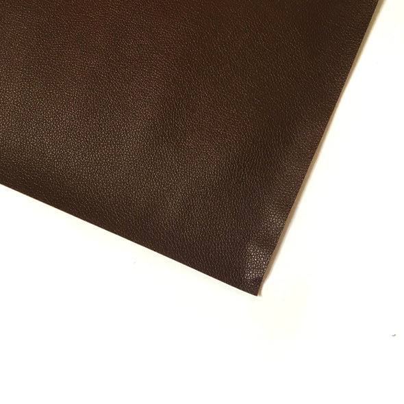 Pebble Faux Leather Pleather Fabric - Dark Chocolate Brown, Pleather- Lumin's Workshop